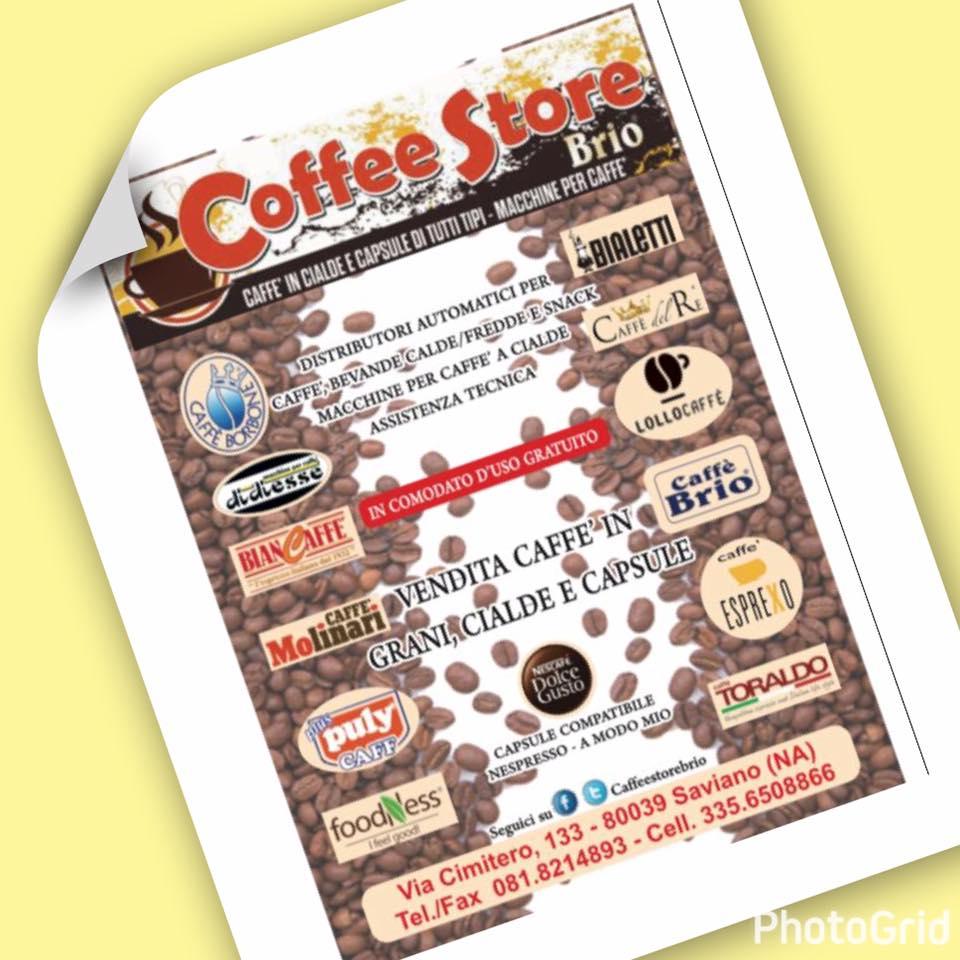 un depliant con scritto caffè in cialde e capsule di tutti tipi