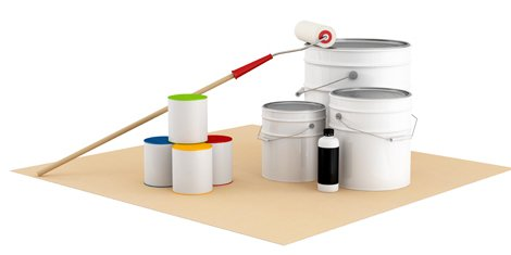 Painting tools used by the professional painters and decorators
