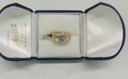 anello con diamanti, anello in oro giallo, anello di fidanzamento