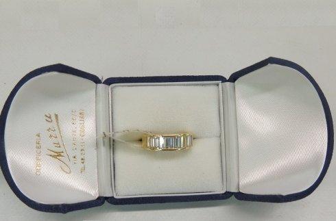 anello in oro giallo e brillanti, anello in oro bianco, anello di fidanzamento