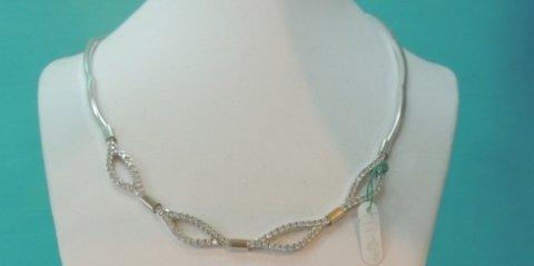 collana in oro bianco e brillanti, collier in oro bianco, collane in oro