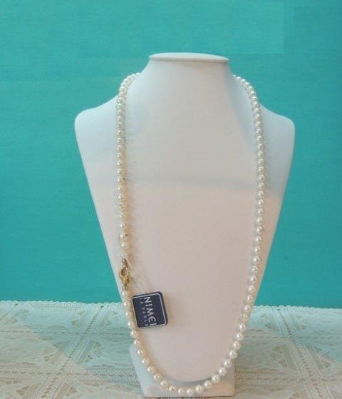 collana di perle, collana di perle con fermaglio in oro, collier in oro bianco, collane in oro