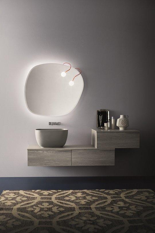 mobili da bagno in legno chiaro