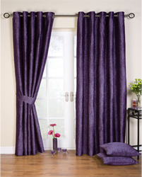Purple curtains made to order in Forfar
