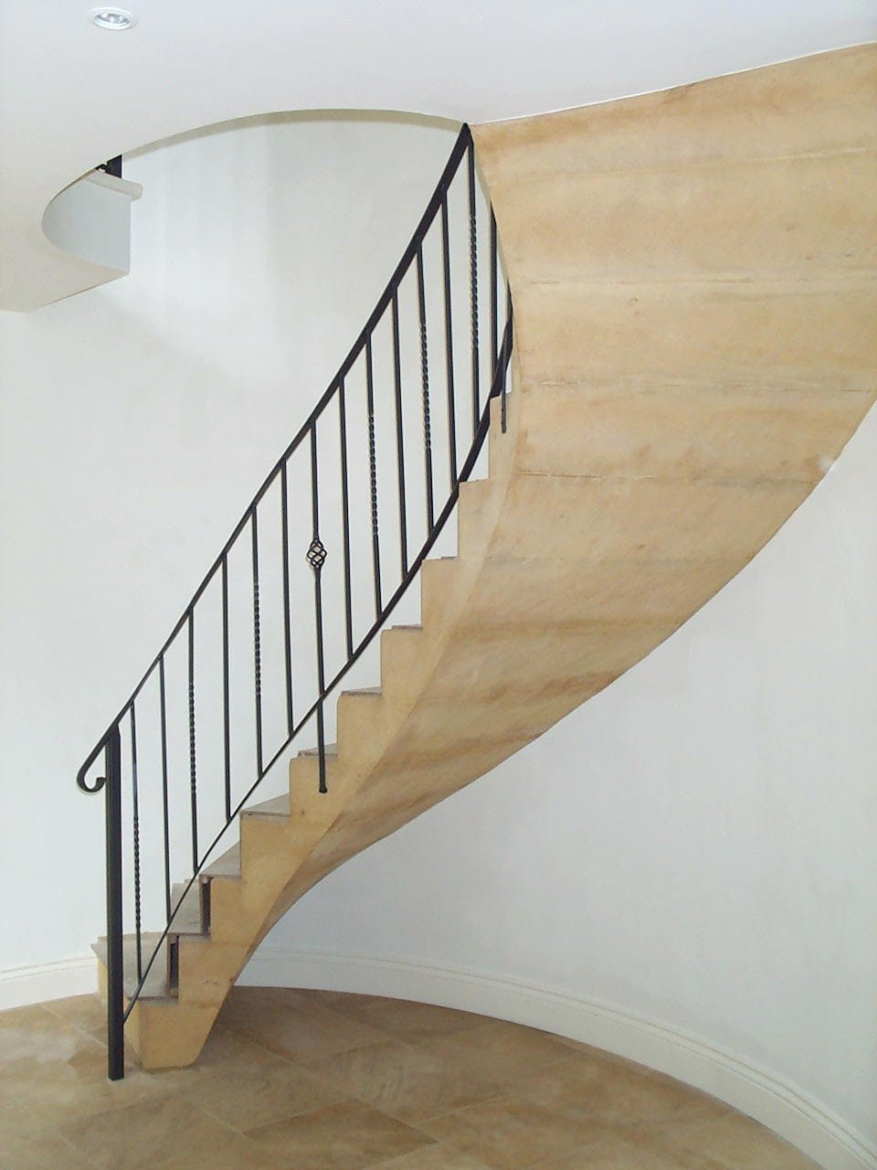 Cotswold limestone staircase