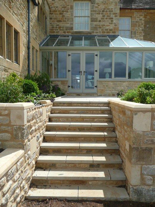 Sawn York stone paving