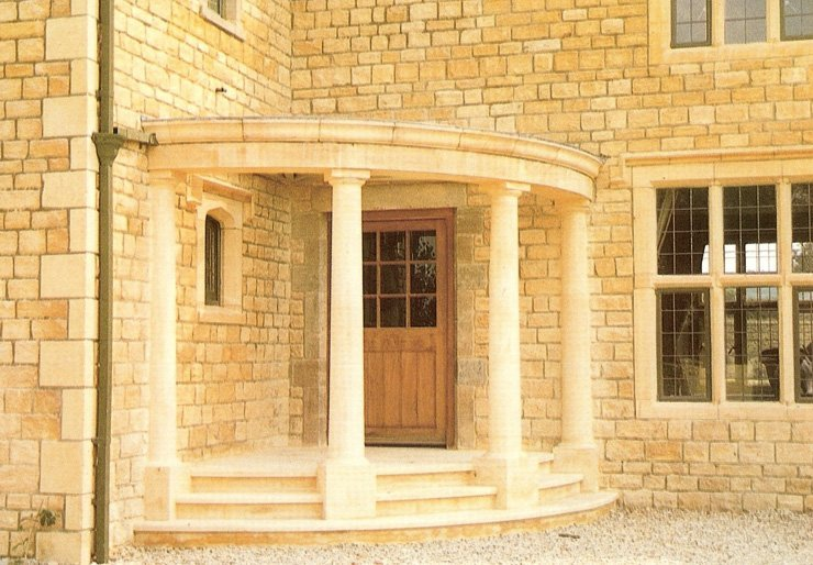 Curved portico