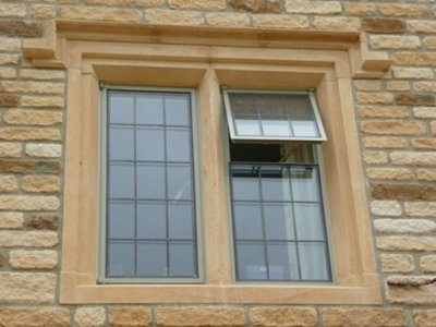 Two-light mullion window