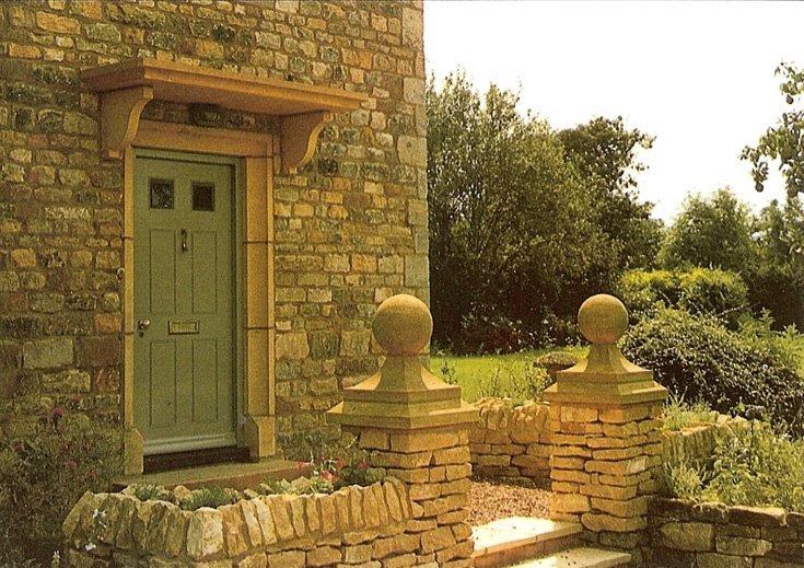 Doorway with canopy