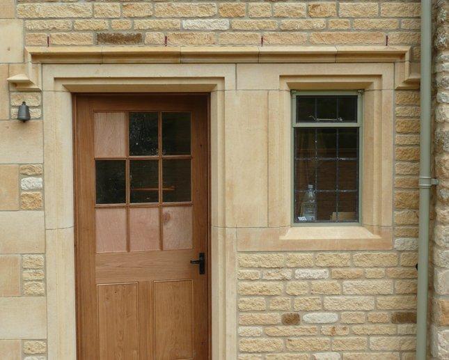Doorway with side window