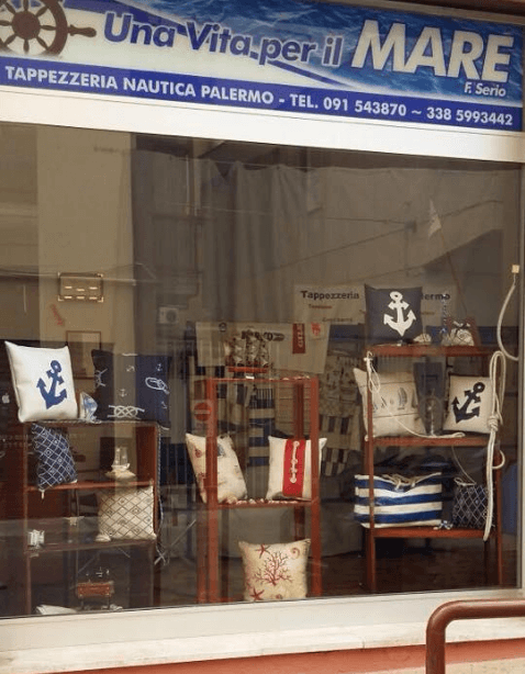 Vetrina Tappezzeria Nautica Palermo