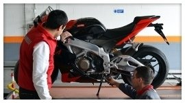 collaudo moto corsa