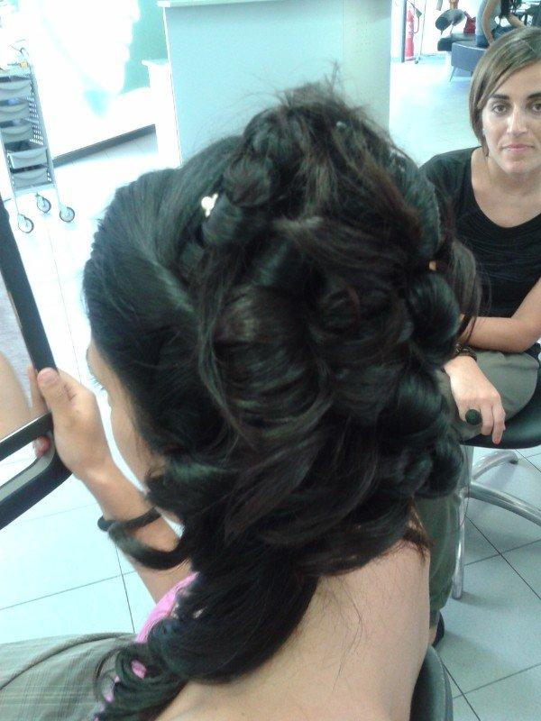 trecce di capelli sovrapposte