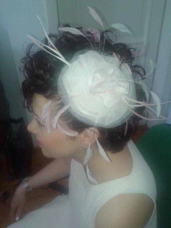 cappellino bianco da sposa