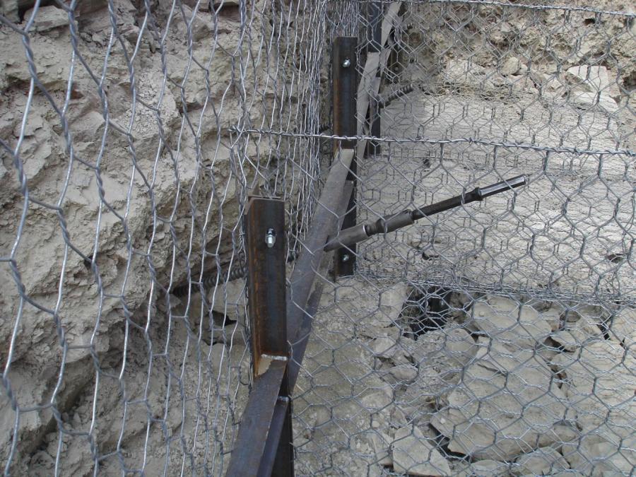 una rete metallica vista da vicino