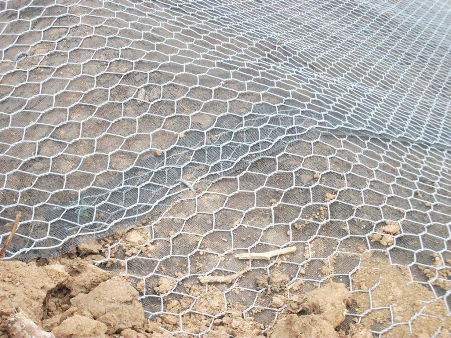 terreno coperto da una rete