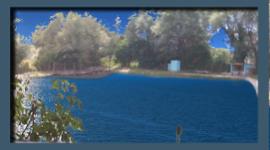terrazza sul lago, tavoli all'aperto, ristorante sul lago