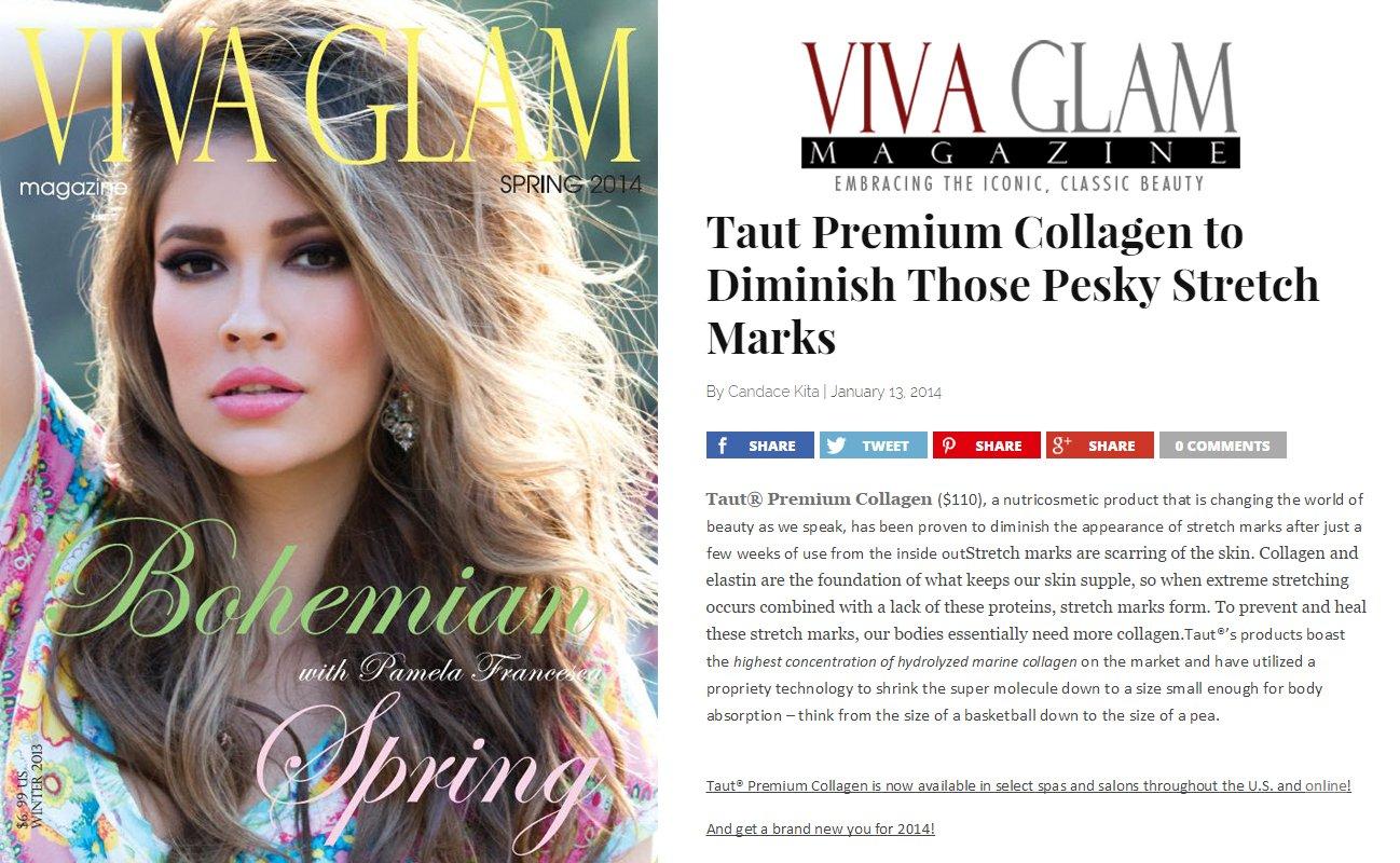 TAUT PREMIUM COLLAGEN DRINK FEATURED ON VIVA GLAM | RenewAlliance