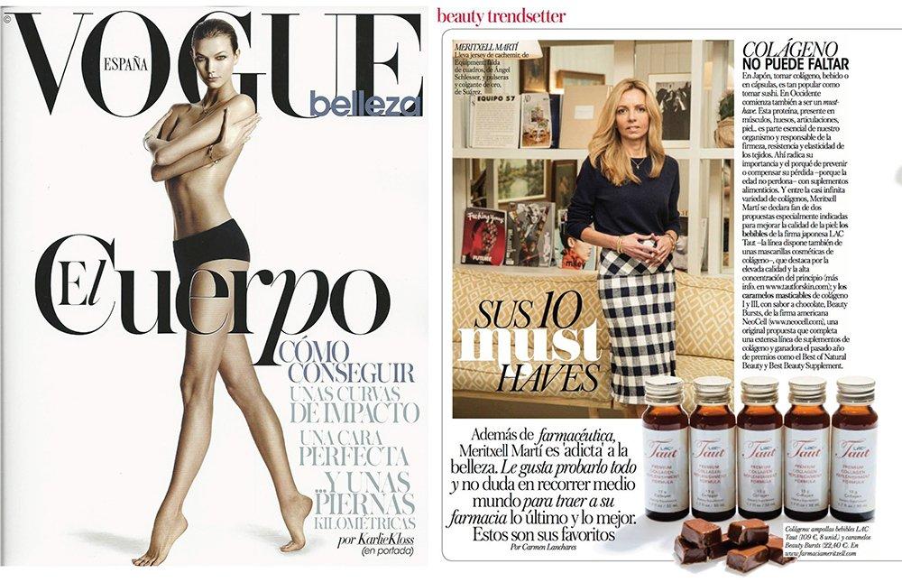 Taut Premium Collagen Featured in Vogue Espana | RenewAlliance