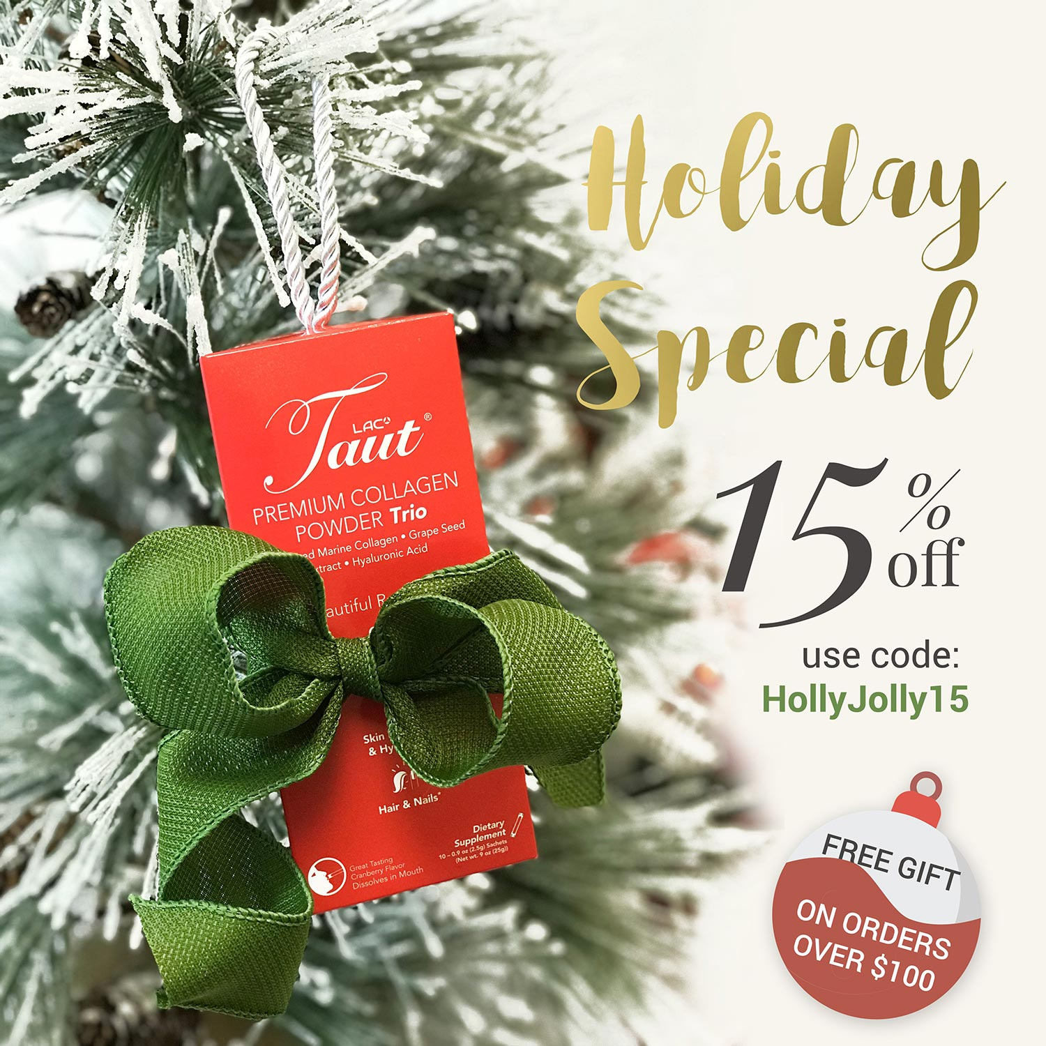 Holiday Special 15% off! Use code HollyJolly15 | PLUS Receive a FREE GIFT with orders over $100!