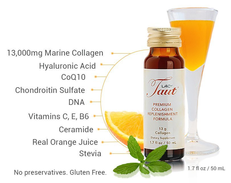 Taut® Premium Collagen Supplement Drink  - Key Ingredients | RenewAlliance
