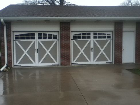 Capital Overhead garage door – brick style