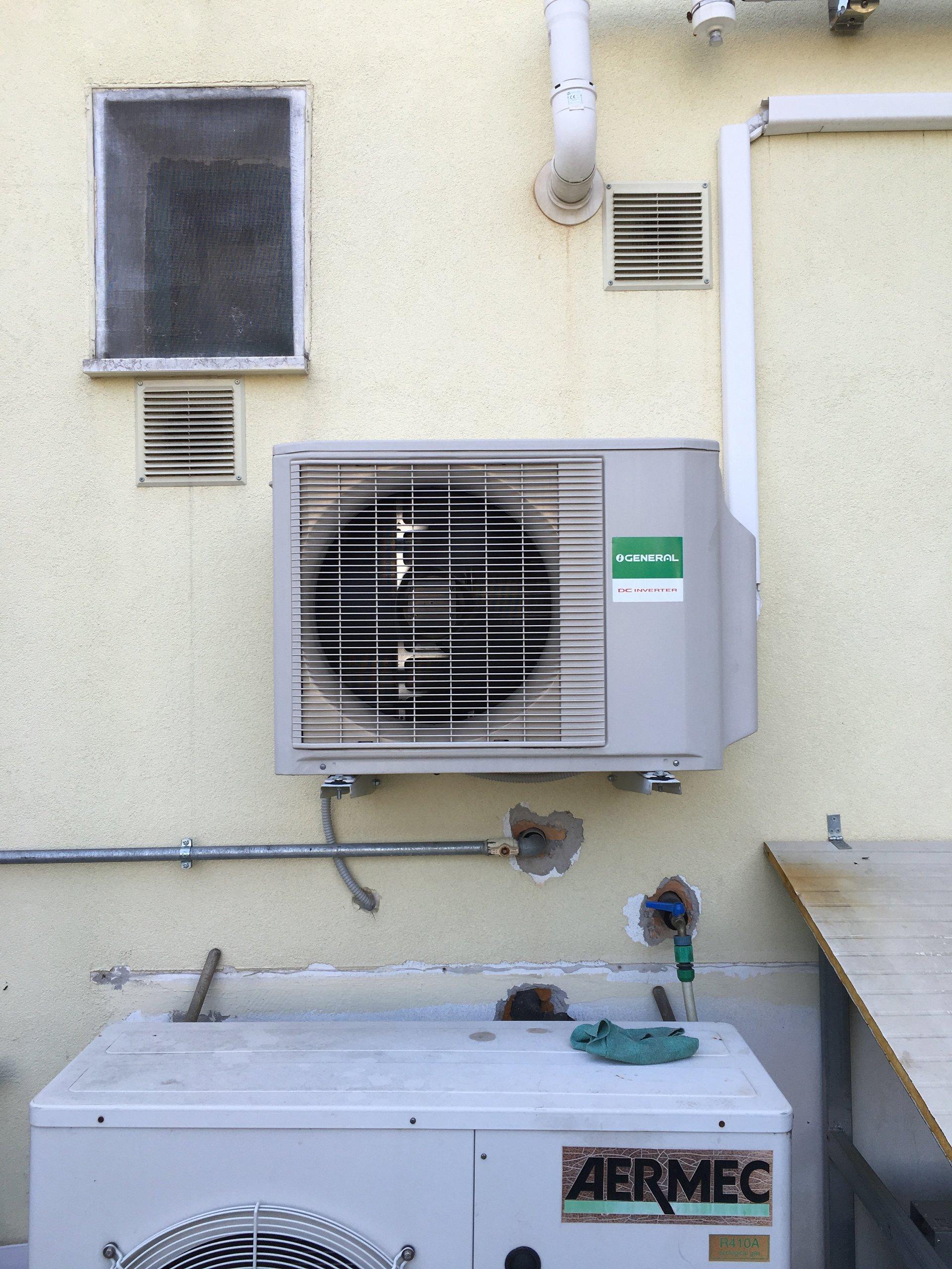 condizionatore d'aria installato