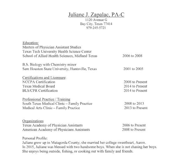 Juliane J. Zapalac, PA-C