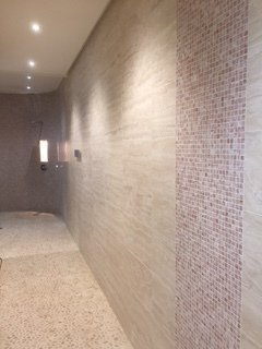 Large tiled wall