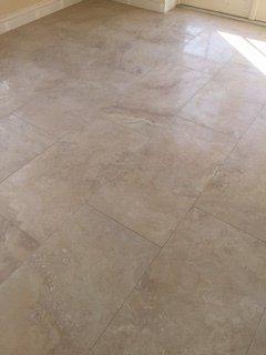 Beige stone floor