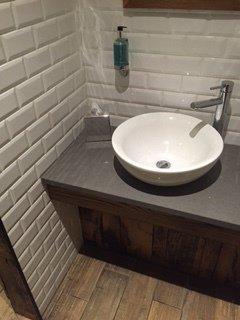 Bathroom with stylish tiles