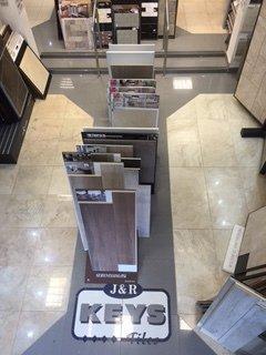 Samples in flooring showroom