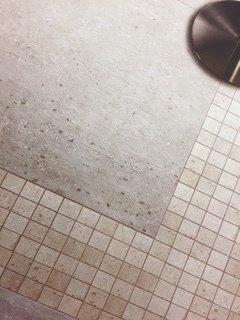 Beige tiled flooring