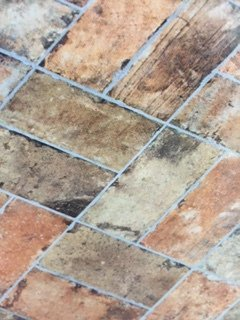 Weathered flooring tiles
