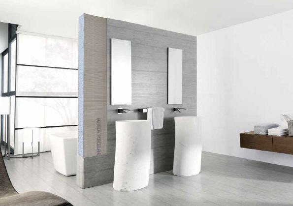 A sleek bathroom