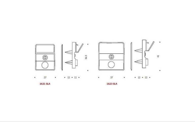 disegno serratura SLA