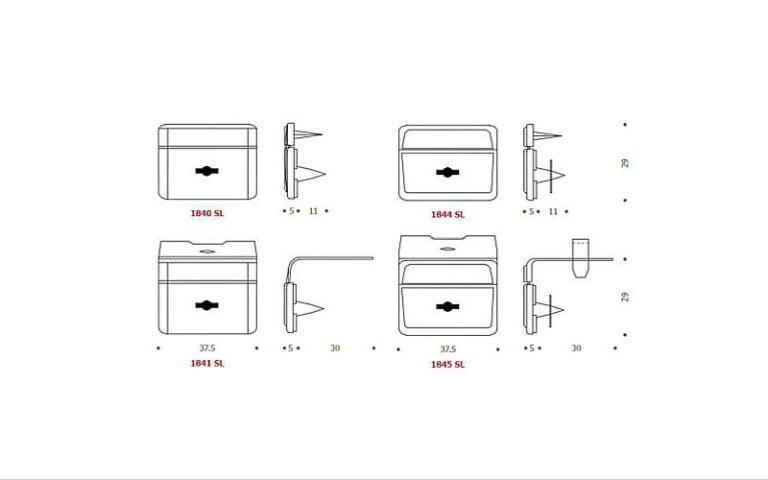 disegno serratura SL