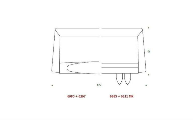 disegno maniglia rigida plastica
