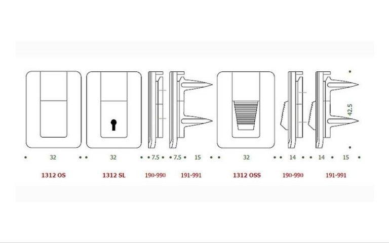 disegno serratura OS+SL+OSS