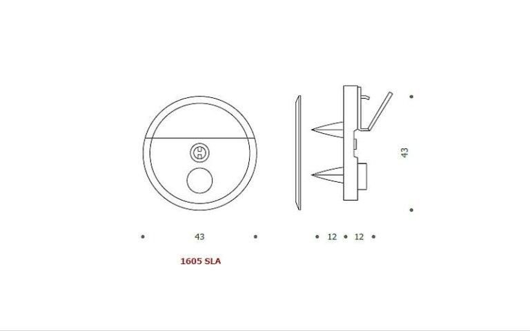 disegno serratura tonda