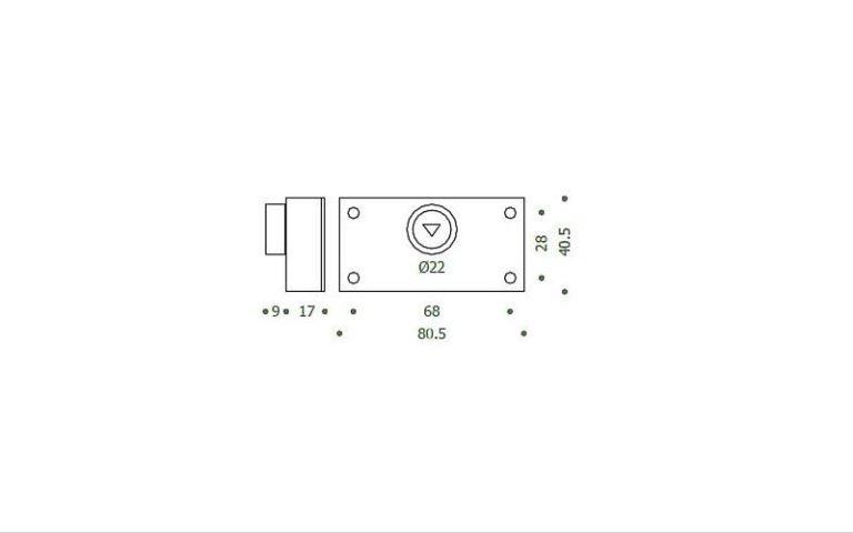 disegno serratura manuale