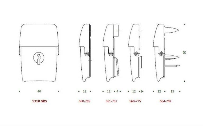 disegno serratura OS+SKS