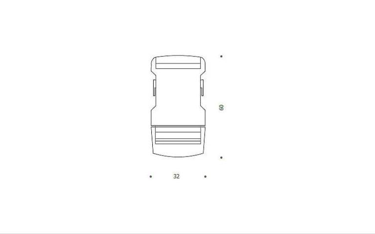 disegno serratura clip nera plastica