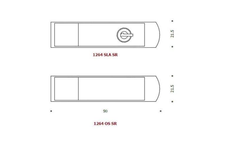 disegno serratura lunga nera