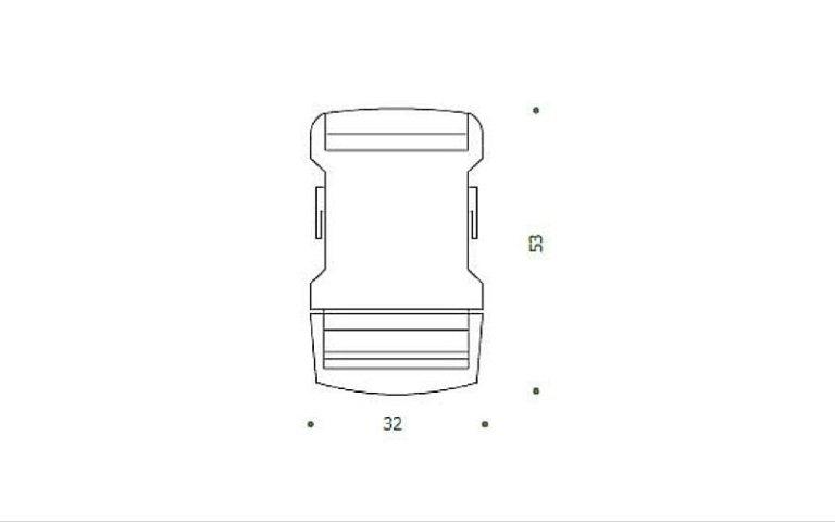 disegno clip plastica nera