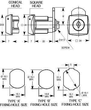cilindretto speciale con leva