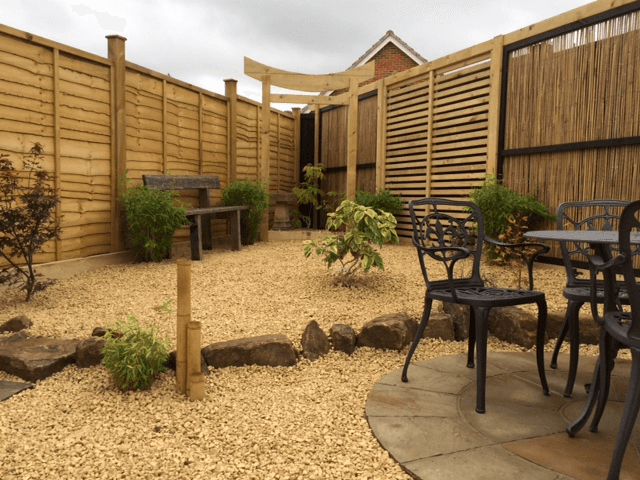 high-quality timber fence