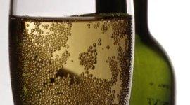 bicchiere di vino, bollicine, bottiglia di vino
