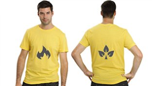 Yellow t shirts printed