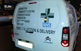 NHS vehicle graphic